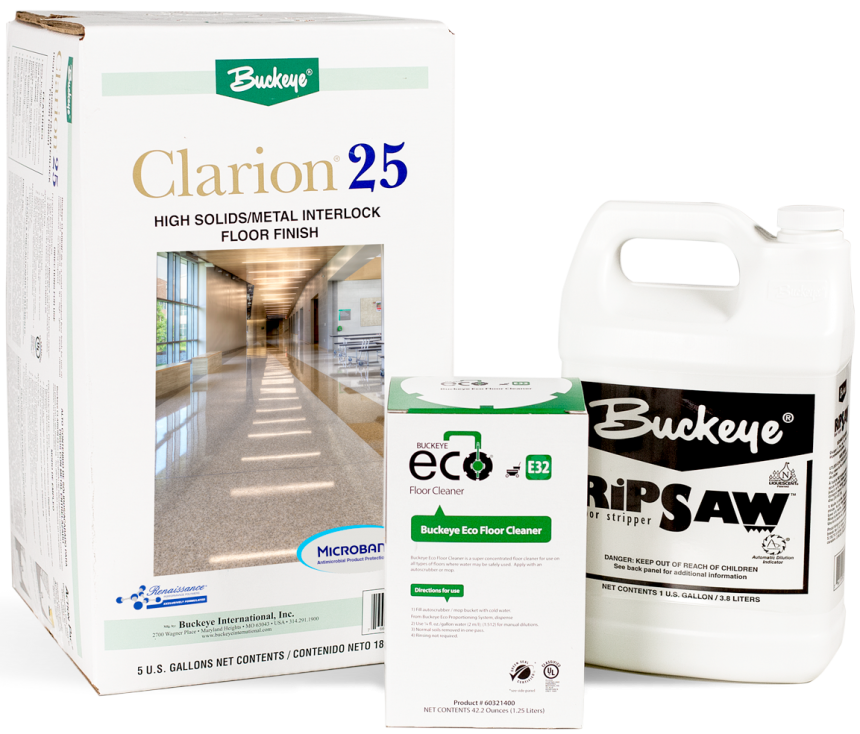 Clarion 25 Floor Finish with Microban Technology